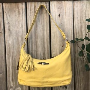 Elliott Lucca Canary Yellow Leather Shoulder Bag